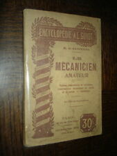 LE MECANICIEN AMATEUR - H. de Graffigny