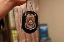 Special Agent Dss Fast Furious Luke Hobbes Badge With Holder & Chain NEW
