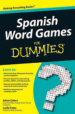 Spanish Word Games For Dummies by Adam Cohen, Leslie Frates (Paperback, 2010)