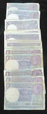 OLD INDIA~1 RUPEE~BIG COIN~73 NOTES LOT~MIX YEAR& MIX SIGN~RARE