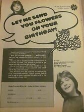 David Cassidy, Full Page Vintage Clipping