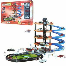 5 Level Modern Car Parking Garage Set Kids Gas Station Play Set Toy Car Wash