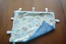 New Handcrafted Plush,Tag Mini Security Blanket-Blue/baby