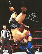 Ken Shamrock Signed WWE 8x10 Photo PSA/DNA COA Picture Autograph WWF w/ The Rock