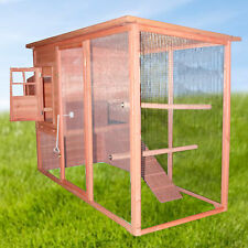2.3M Long Weatherproof Chicken Coop Hen House Removable Tray Sliding Door