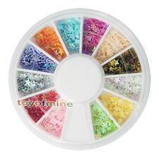 Nail Art UV Acrylic Tips Star Flake Glitters Decoration Wheel