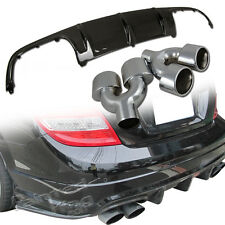 CARBON FIBER Mercedes-BENZ W204 SEDAN C63 A REAR DIFFUSER + EXHAUST PIPE 08-11