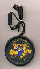 Disney WDW Mickey Grad Nite 2002 Round Necklace Pin Light Up pin - necklace