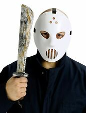 Jason Voorhees Friday the 13th Hockey Mask & Machete Set Costume Accessory fnt