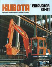 Equipment Brochure - Kubota - KH-151 - Excavator - c1989 (E2921)