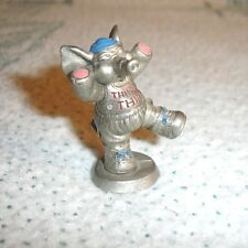 "HUDSON Pewter Mini Elephant making Gym ""THINK THIN"" HARD TO FIND!"