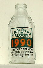 "milk bottle : lovely ""Cardiff in Bloom"" 1990 Wales : dairy"
