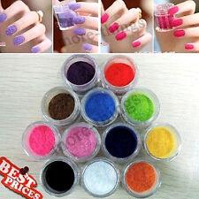 Velvet affolla polvere per velluto manicure smalto di chiodo 12 colori