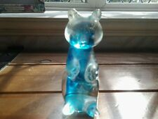 Beautiful.....ornamental, blue BEAR....GLASS....EXCELLENT CONDITION..