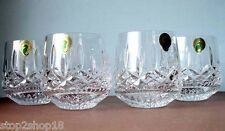 Waterford Lismore Roly Poly Old Fashioned Tumblers DOF Glasses Set of 4 New