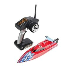 WLtoys WL911 4CH 2.4G Remote Control High Speed Racing Boat Red Free US Shipping