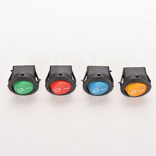4X Auto Car Boat Auto LED Dot Light 12V Round ON/OFF Rocker Toggle SPST Switch
