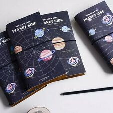"""Planet Side"" 1pc Travel Diary Book Pocket Planner Journal Notebook Agenda Memo"