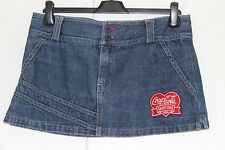 Authentic COCO COLA Denim Mini Skirt Size 30/31 inches UK 12 - 14