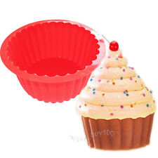 """7.5 """" Giant Cupcake Pan Round Chocolate Cake Bread Bakeware Silicone Mold"""
