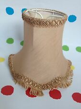 Vintage / Retro Clip On Lampshades / Light Shades Gold Colour.