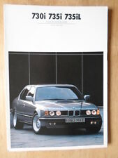 BMW 7 Series 1987 1988 UK Mkt Colours & Upholstery brochure - 730i 735i 735iL