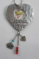 s Life takes us to unexpected places love brings home Angel JOURNEY CAR CHARM