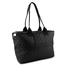 Pursfection Expandable Tote Bag in Quilted Fabric – Black