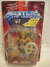 NIB OLD Mattel 2001 HE-MAN  Figure Masters Of The Universe Sword Axe Shield TOY