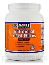 Nutritional Yeast Flakes - 10 oz (284 Grams) by NOW