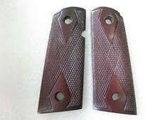 DIAMOND CHECKERED ROSE WOOD GRIP COLT OFFICER, 1911 COMPACT SIZE NO 1