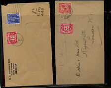 Great  Britain   2   postage due covers  local use           MS0318