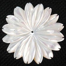35mm  Fashion White Mother of pearl Shell Flower Pendant Bead MC3718