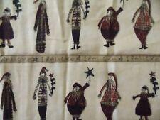 Estate Fabric Moda Pieces from my Heart Santa Christmas Folk Primitive Quilt