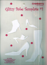 "BOOTS, SANDALS & SHOES Cranberry Card Company ""Glitzy Babe"" Template #1"
