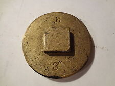 "3"" BRASS CLEANOUT PLUG / CAP- RAISED HEAD - THREADED PIPE FITTING"