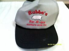 "Trucker Mesh ""BUBBA'S BAR B QUE SOUTHERN STYLE RIBS"" Gray Hat One size fits all"
