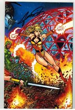 GEORGE PEREZ'S SIRENS #1 WRAPAROUND VIRGIN VARIANT COVER SIGNED BY GEORGE PEREZ