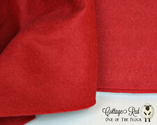 Fat Quarter, Cottage Red Wool Felt, 100% Virgin Wool Felt, Craft, Sew, Create