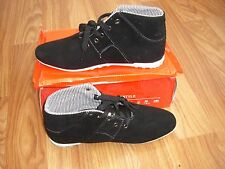 BLACK SUEDE  MENS HIGH TOPS  SIZE 8/42