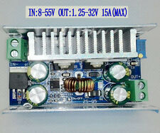 DC 8-55V To 1.25-32V 15A Adjustable Buck Converter Step-down Power Supply Module