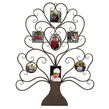 Family Tree Photo Frame Metal Wall Art Unique Style Home Decor 7 Pic Display