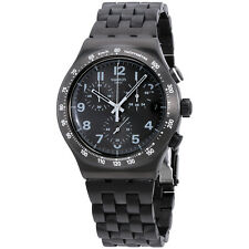 Swatch Destination Soho Black Stainless Steel Chronograph Men's Watch YVM402G