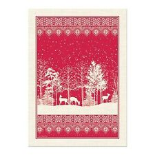 Michel Design Works Cotton Kitchen Tea Towel Christmas Snowy Night - NEW