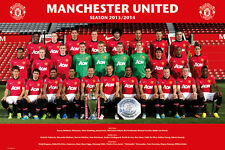 Manchester United Team 2013-2014 POSTER 61x91cm NEW * Wayne Rooney van Persie