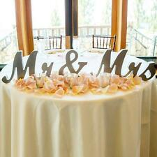 Large Wooden Mr&Mrs Shining Standing Letters Sign Plaque wedding Decor Accs