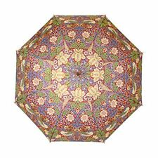 Signare Para Mujer Automático Stick paraguas en William Morris Fresa ladrón Rojo