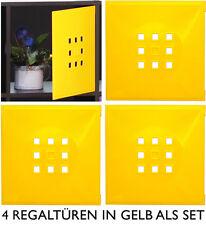 4er Set Tür Einsatz Ikea Regal Expedit Kallax Normäs Flexi mit Würfel XXXL gelb
