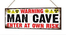 Cueva de hombre de Metal Lata Signo Garaje sala de juegos Padre Papá Abuelo Regalo