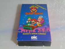 THE SUPER MARIO BROS SUPER SHOW MAGIC CARPET VHS 1989 NINTENDO